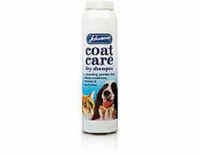 JOHNSONS COAT CARE DRY SHAMPOO FOR CATS & DOGS grooming powder cleans conditions