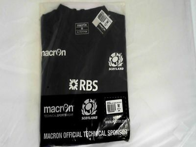 Brand New Macron Scotland Rugby 2014/15 Training Sports Gym Workout Top T-Shirt