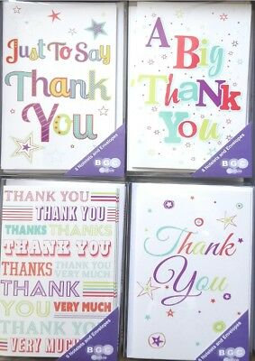 Thank you Notelets, pack of 8. Thank you cards with envelopes. Free p+p