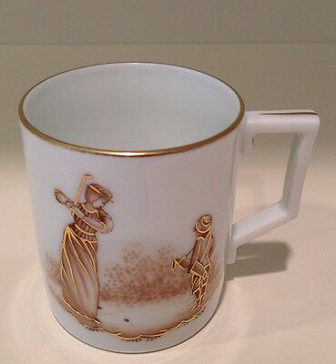 Hochst Hand-Painted Golf Porcelain Espresso Cup Made in Germany New