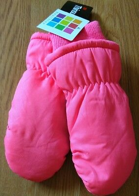 3M Thinsulate Toddler Girls Pink Black Ski Gloves One size fits all Mittens S