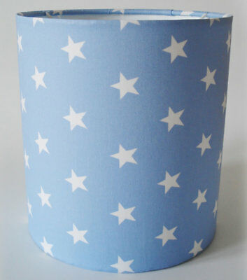 Pale Blue Star, Medium Fabric Lampshade / Lightshade