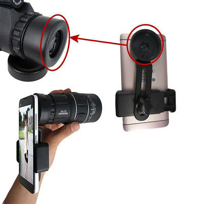 Portable Zoom Dual Focus Monocular Telescope 66M/8000M & Phone Holder &Pouch Kit