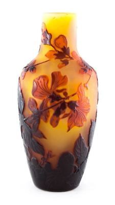 Genuine Galle Apple Blossom Cameo Vase