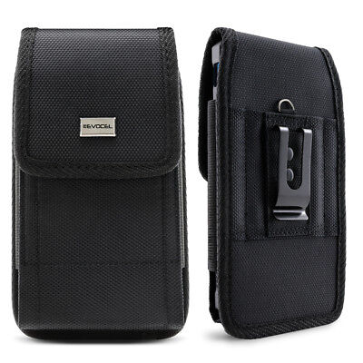 Cell Phone Pouch with Belt Loop and Metal Clip Holster (3 Sizes) - Evocel