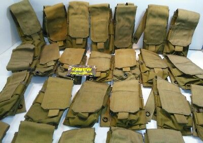 2 EACH Double Mag Pouch Eagle Industries Coyote Brown MC-MP1-M4/2-MS-COY