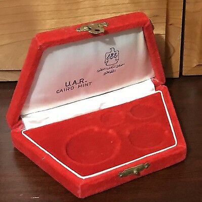 1964 Egypt, UAR Original Box , CAIRO MINT, Great condition, No Coins Box Only