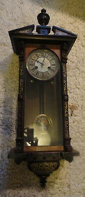 Beautiful Small Antique Vienna Style Chiming Wall Clock - For Repair