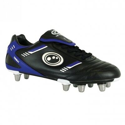 (10 UK, Black/Blue) - Optimum Mens Tribal Rugby Boots. Shipping is Free