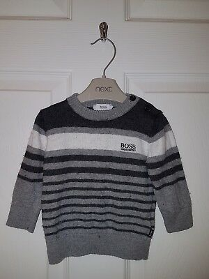 Boys Genuine HUGO BOSS Long Sleeved Jumper Size 9 Months