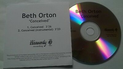 Beth Orton * Conceived * Very Rare 2 Trk Promo Cd 2006 Heavenly