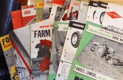 Vintage  Variety Of Ford Tractor Brochures Instruction Implements