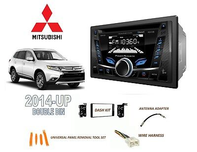 2014-Up Mitsubishi Outlander Car Stereo Double Din Kit, Bluetooth Usb Cd Aux