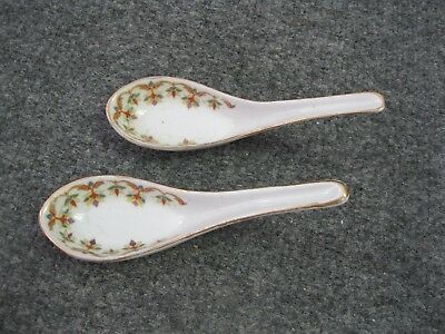 Pair of Chinese antique porcelain Spoons