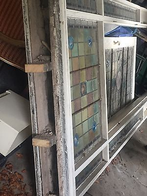 Victorian Entrance Door With Surround Lead Glass 1888 very rare and sought after