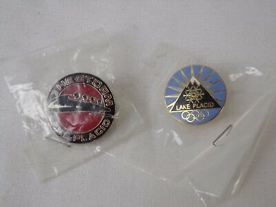 Lake Placid Olympic Pins Lot of 2 The Storm Pin Pinback