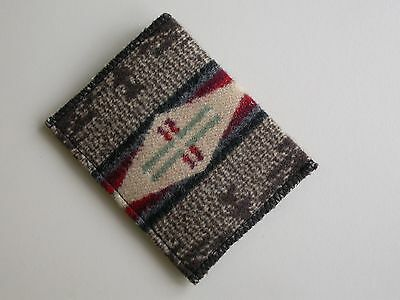 Wallet NEW Handmade of Pendleton Wool simple single fold wallet for men women