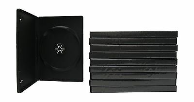 10 Single Side Black DVD Cases with Clear Plastic Cover Free Shipping