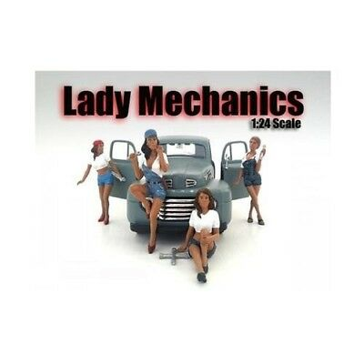 """""""Lady Mechanics"""" 4 Piece Figure Set For 1:24 Scale Models by American Diorama"""