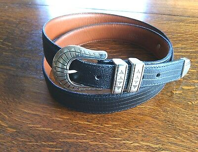 USA Nationwide Golf Championship Leather Belt Size 40'' Lizard Style 3295 Buckle