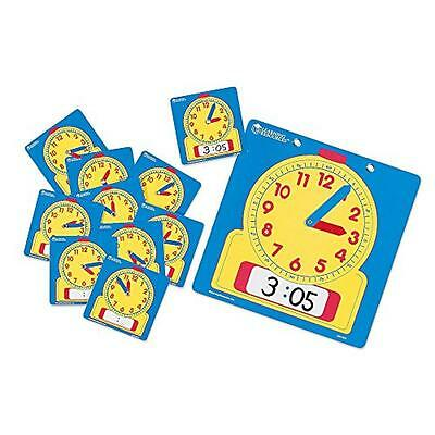 Learning Resources Write On/Wipe Clocks Classroom Set, New, Free Shipping