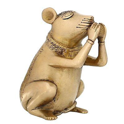 Mouse in Brass Metal Handcrafted Figurine
