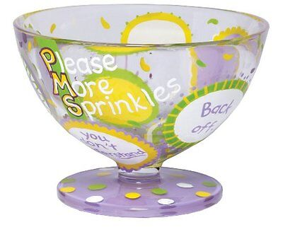 Lolita Hand Painted Glass Sundae Bowl, Pms, New, Free Shipping