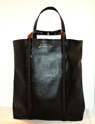 GIVENCHY Black faux leather TOTE BAG