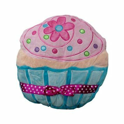 Plush Cupcake Pillow - Blue and Pink, New, Free Shipping