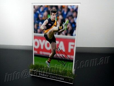 ✺Signed✺ TRENT COTCHIN Photo & Frame PROOF COA Richmond Tigers AFL 2018 Guernsey