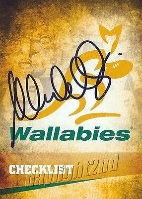 ✺Signed✺ 2016 WALLABIES Rugby Union Card MICHAEL CHEIKA