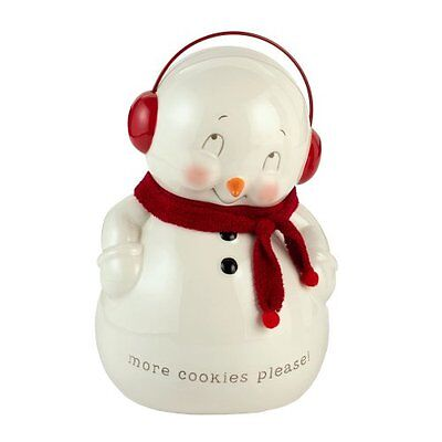 Snowpinions from Department 56 Snowman Cookie Jar, New, Free Shipping