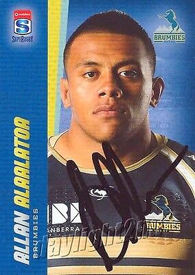 ✺Signed✺ 2017 ACT BRUMBIES Rugby Union Card ALLAN ALAALATOA