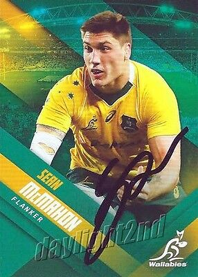 ✺Signed✺ 2017 WALLABIES Rugby Union Card Card SEAN MCMAHON