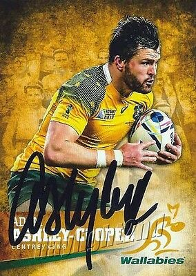 ✺Signed✺ 2016 WALLABIES Rugby Union Card ADAM ASHLEY-COOPER