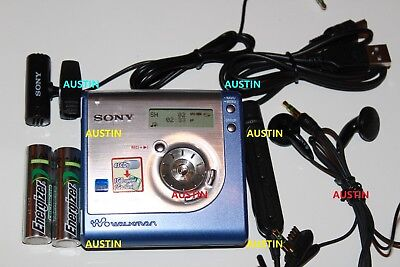 Sony Mz Nh 700 Net Md Hi Md  Minidisc With Sony Microphone, Batteires