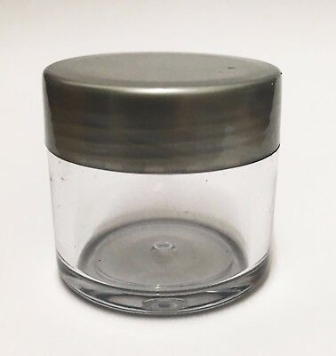 20ml Empty Clear Jar Pot containers for crafts, beads, cosmetics, paint, glitter