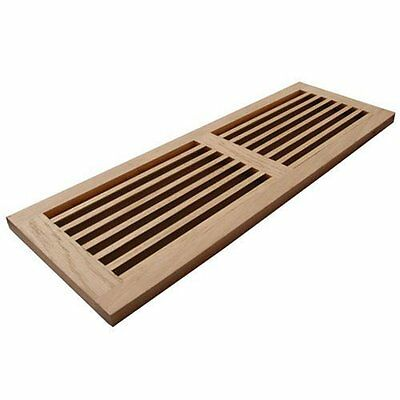 WELLAND® Hardwood Register Cold Air Return Wall Vent Unfinished, 8 inch x 32