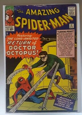 Amazing Spider-Man #11 2Nd Doctor Octopus,1St Bennett Brant 1963 Silver Age