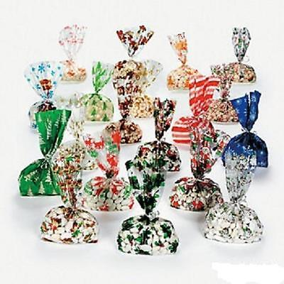 "240 (20 Dozen) ~ Holiday Cellophane Bag Assortment ~ Approx. 5 1/2"" X 3 1/4"" X 1"
