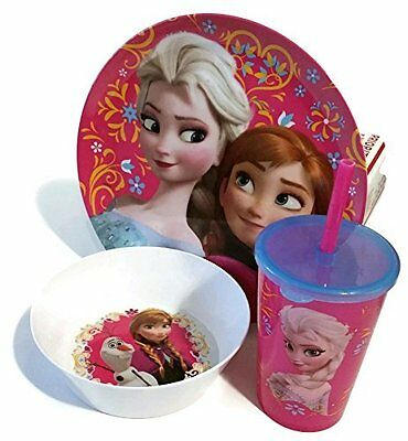 Disney Frozen Mealtime Set (Bowl, Plate, Cup), New, Free Shipping