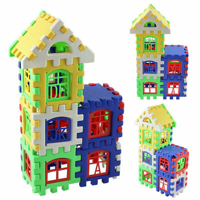 24Pcs Baby Kids Bricks House Building Blocks Construction Set Learning Toy ZO#
