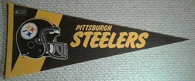 Vintage Pittsburgh Steelers NFL Full Size Pennant