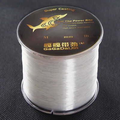 160m~1860m 12 lb~100 lb Clear Monofilament Fishing Line Nylon Mono Super Strong