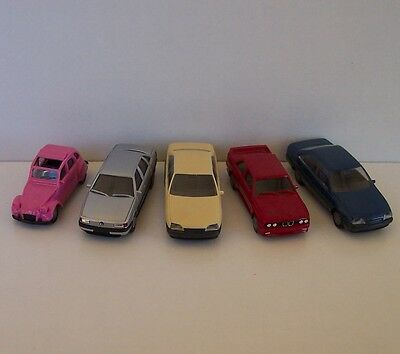 Set of 5 HO-scale Model Cars by Herpa - Lot #6