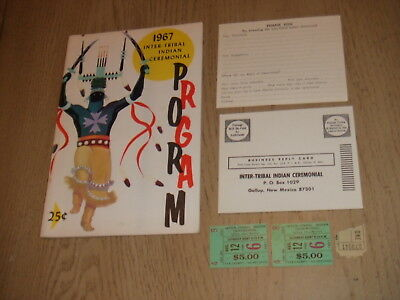 VINTAGE 1967 OFFICIAL Inter Tribal Indian Ceremonial Program Gallup New Mexico +