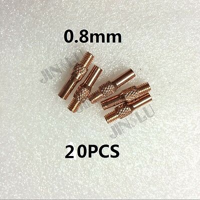 20pk Contact Tip 0.8 OEM MIG Spool Gun Wire Feed Aluminum Steel Torch