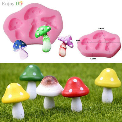3D Mushroom Fondant Chocolate Silicone Mold Cake Mold Decoration Baking DIY Tool