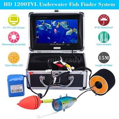 7in LCD 1200TVL Fish Finder Video Underwater With 15m Cable Fishing Camera H7E5