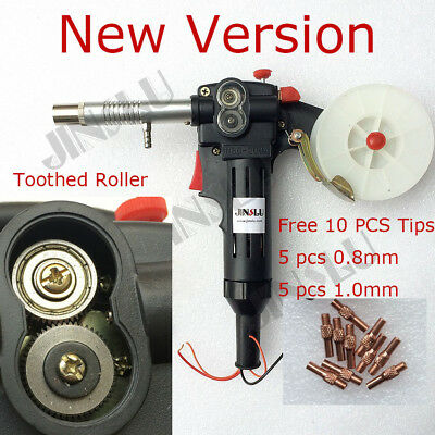 DC 24V Toothed MIG Spool Gun Wire Feed Aluminum Steel Welding Torch Everlast Mig